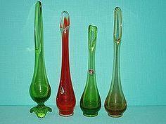 Viking Art Glass Epic Bud Vases