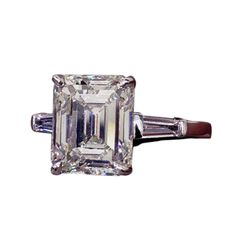 Classic Emerald Cut GIA Certified 4.03 carat J VVS2 Engagement Ring | From a unique collection of vintage engagement rings at http://www.1stdibs.com/jewelry/rings/engagement-rings/