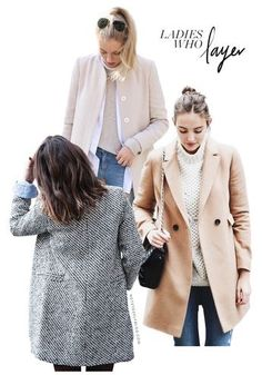 BEING - Able to layer a cashmere sweater with a coat for the fall.