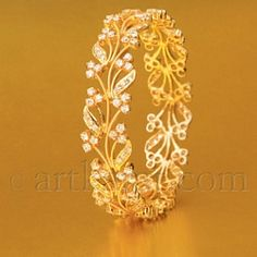 From the new Begum collection from Art Karat...I love the delicate work in the bangle