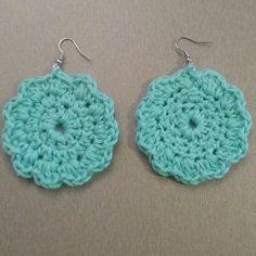 Πλεκτά σκουλαρίκια με βελονάκι Chroset earrings Jewelery, Crochet Earrings, Jewelry, Jewels, Jewlery, Jewerly, Jewel