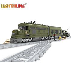 47.90$  Watch here - http://ali2qg.worldwells.pw/go.php?t=32755446772 - Building Blocks Green Train  Bricks Blocks Children's Educational Toys Christmas gift 47.90$