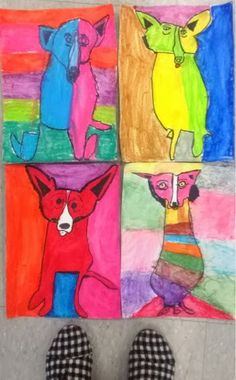 Mrs. Knight's Smartest Artists: Blue Dog art, celebrating George Rodrigue