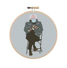 Inauguration Bernie Cross Stitch Pattern Bernie Sanders | Etsy Bernie Sanders, Funny Cross Stitch Patterns, Cross Stitch Designs, Kawaii, Pattern Quotes, Memes, Easy Stitch, Joe Biden, Cross Stitching