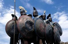 """#warriors prepare to form the military formation known as the #phalanx, in the 2003 mini-series, """"Helen of #Troy.    Image: (c) Universal Home Entertainment"""