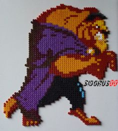 Beast - Beauty and the Beast hama perler beads by Sidorus00