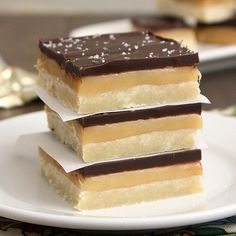 Salted Rum Caramel Bars With Macadamia Shortbread Recipes — Dishmaps