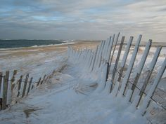 Snow on the beach.  I love the colors and the light.