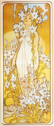 By Alphonse Mucha, I really like pretty much all of his work. But i especially like the color choice for this piece because of how it sort of radiates like sunshine.