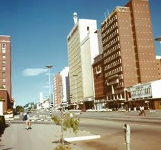 Above: Date circa Intersection of Second Street/Baker Ave, facing east.Part of Anglican cathedral on left, famous Rixi Renault. Johannesburg City, Zimbabwe Africa, Anglican Cathedral, Out Of Africa, Walkabout, Salisbury, Ol Days, Good Ol, Cape Town