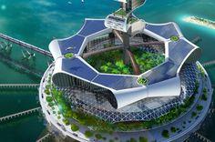 Grand Cancun, The Podium, heliports, solar farm and gardens