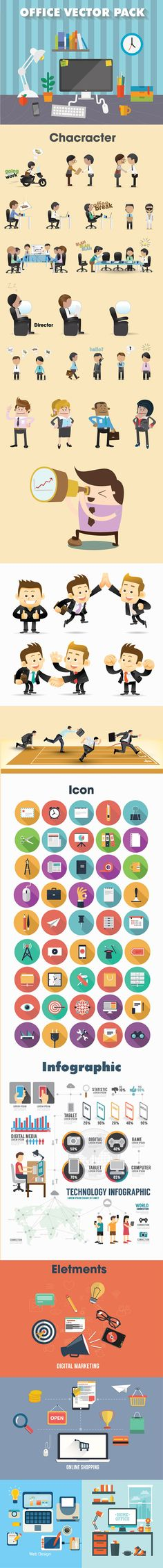 Office Vector Pack on Behance