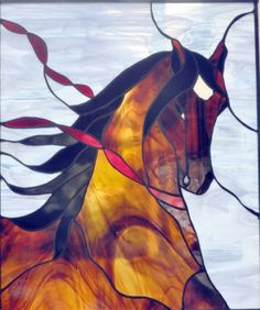 horse stained glass | Stained