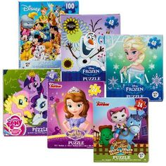 Assorted Licensed Girls' Puzzles (Set of 6)