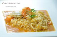 Arroz con marisco (sin fumet ni caldo de pescado) Pasta Thermomix, Rice Recipes, Macaroni And Cheese, Seafood, Yummy Food, Diet, Cooking, Ethnic Recipes, Noodles