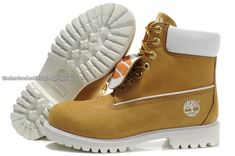 Timberland Mens Authentic 6 Inch Double Tongue Bright Leather 31085 Boot-Wheat White