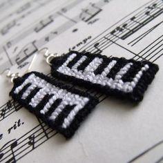Piano earrings by letax.deviantart.com on @deviantART