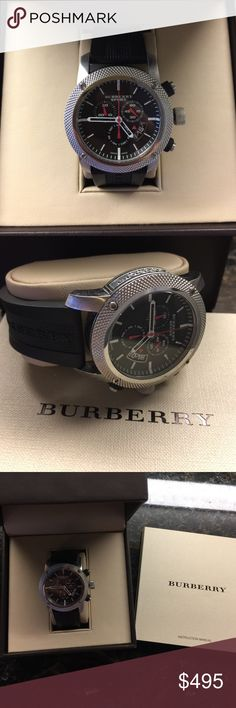 Men's Burberry Sport Watch Classic Time Piece Authentic Burberry Men's Sport Watch. Gently Used & in great condition. Comes with original box! Burberry Accessories Watches