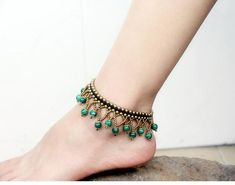 Chinese Elements Ethnic Jewelry Beads Braided Copper Bell Women Anklet Foot Bracelet Item Type: Anklets - Fine or Fashion: Fashion - Brand Name: KLASIVER ARCHIV - Length: - Style: Ethnic - Material: Stone - Shape\pattern: Water Drop - Gender: Women - Beaded Anklets, Beaded Jewelry, Beaded Necklace, Beaded Bracelets, Women's Anklets, Ankle Jewelry, Ankle Bracelets, Diy Schmuck, Schmuck Design