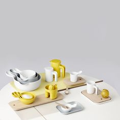 A collection of kitchenware by Danish designer Ole Jensen.