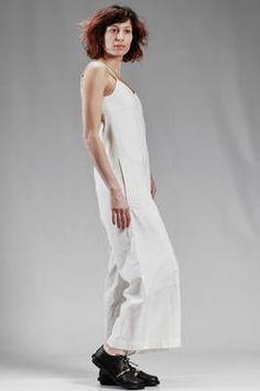 Y'S Yohji Yamamoto   wide pants dungaree in line and cotton canvas, linen lined   #ysyohjiyamamoto