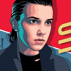 Personal artwork I created of Stranger Thing's Eleven (played by the cool Millie Brown). [2017 Mel Marcelo Art 55] #strangerthings #eleven #melmarceloart #vectorart #adobeillustrator #wacom #strangerthings2 #milliebrown
