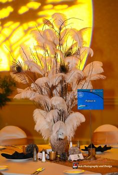 Our African Themed Centerpiece Using Willow Branches and Ostrich Feathers Feather Centerpieces, Party Centerpieces, Centrepieces, America Themed Party, Zulu Wedding, Traditional Wedding Decor, Graduation Party Themes, African Princess, African Traditions