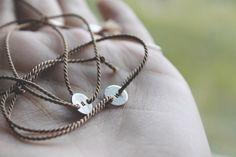 Stream Tie Bracelet . One Bracelet . Sterling Silver & Silk Tie - On . by foxandthefawn on Etsy https://www.etsy.com/listing/225502781/stream-tie-bracelet-one-bracelet