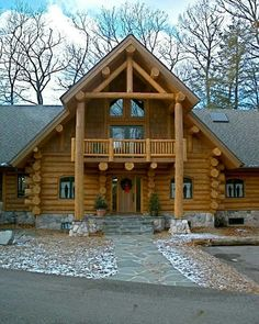 Log Cabins For Sale, Cabins And Cottages, Cabins In The Woods, House In The Woods, My House, Cabana, Building Design, Building A House, Log Home Living