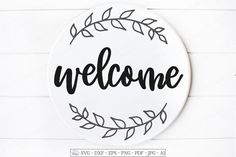 Front Door Porch, Welcome Design, Vinyl Signs, Handmade Baby, Svg Files For Cricut, Cutting Files, Photo Editing, How To Draw Hands, Hand Drawn