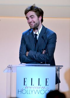 Robert Pattinson at Elle's Women in Hollywood event