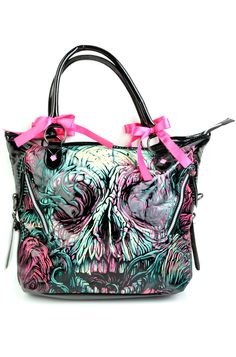 Iron Fist Santeria Voodoo Hand-bag Purse Bag Goth Vegan Tote Shoulder Bag Large