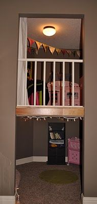 Indoor 2-story play house in a closet such a great Idea and use of space!