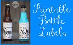 Printable Bottle Labels For Wedding