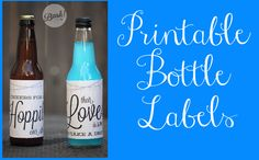 Printable Bottle Labels...these would be a cute way to dress up beer bottles at our reception.