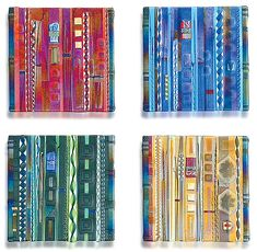 Wall Panel Color Series Set: Mark Ditzler: Art Glass Wall Art - Artful Home