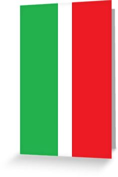 """""""Mod Italian Stripes by 'Chillee Wilson'"""" Greeting Cards & Postcards by ChilleeWilson 