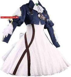 Ainiel Womens Costume Cosplay Anime Uniform Suit Dress Outfit Dark Blue White (S) Anime Uniform, Uniform Dress, Dress Suits, Dresses, Cosplay Dress, Cosplay Costumes, Halloween Costumes, Smee Costume, Violet Evergarden