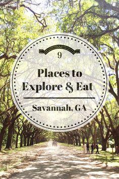 9 Places to Explore & Eat in Savannah, Georgia | Nesting on Oleander