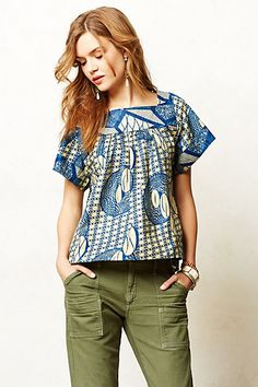 Legend & Song Dutch Wax Blouse -- Oh Anthro how you are amazing me with your Africa clothes!