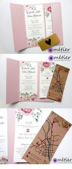 Zaproszenia ślubne z kwiatami  www.metier.pl  wedding nvitations #zaproszenia #zaproszeniaślubne #wedding #weddinginvitations #wesele