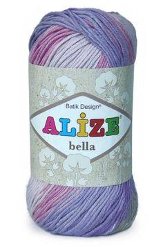 Alize Handknitting Yarns - Alize el örgü iplikleri- YÜNTEKS %100 pamuk: alize bella.. örerken de sıkılmıyor insan kendiliğinden renk değişiyor.Battaniye örmek için ideal...