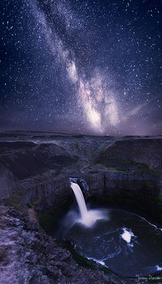 ~~Galaxy Falls ~ Milky Way, Palouse Falls, Washington by Jeremy Duncan~~