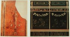 "a ""farnesina-villa"" freskói (""3. stílus"" ill. ""kandeláberstílus""), kr.e. 20 k. (róma, museo nazionale)"