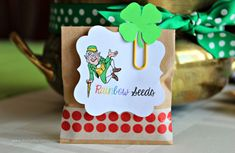 Rainbow Seeds from a leprechaun! Such a cute idea!