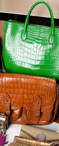Runway handbags for Ralph Lauren Spring 2015 Backstage