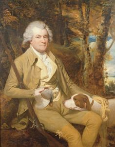 Squire Morland with his gun and dog (and a dead bird), c.1773 by James Miller