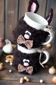 Купить ШОКОЛАДКИНЫ - коричневый, привычка радовать, Алейникова Александра, магадан, кружка в одежке, кружка в подарок