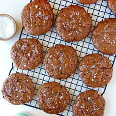 Flourless Chocolate Cookies Recipe Desserts with confectioners sugar, unsweetened cocoa powder, corn starch, kosher salt, large egg whites, semi-sweet chocolate morsels, sea salt