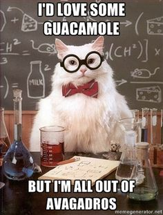 I actually called it the avocado number in chemistry!